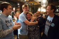 Chapel Hill mayor Pam Hemminger celebrated the news of her reelection at City Kitchen on Tuesday night.