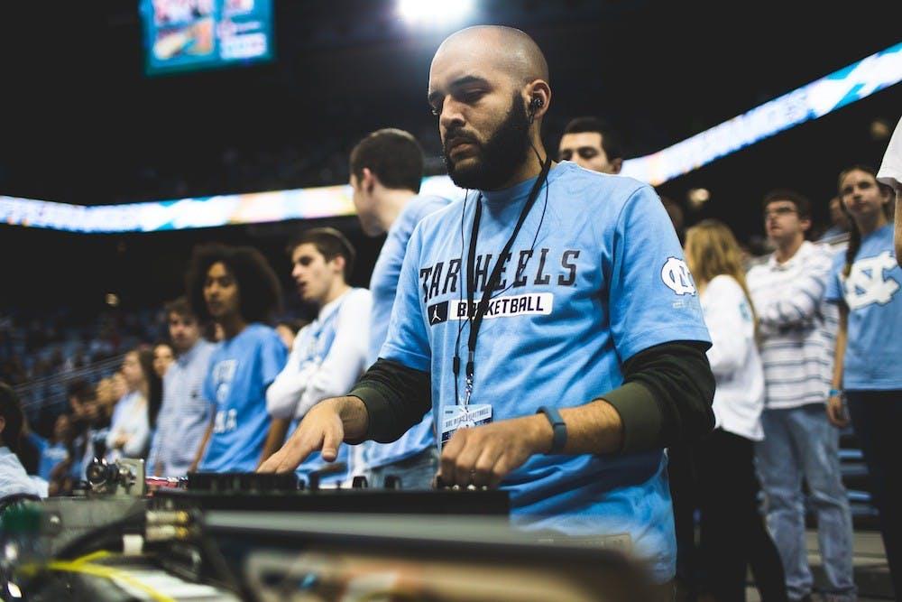 Jordan Chavis spotlights as DJ of UNC athletics