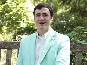 Peter McClelland, Executive Director with the North Carolina Federation of College Republicans and the current Speaker Pro-Tempore in UNC's Student Congress looks forward to his political involvement on campus for his senior year.
