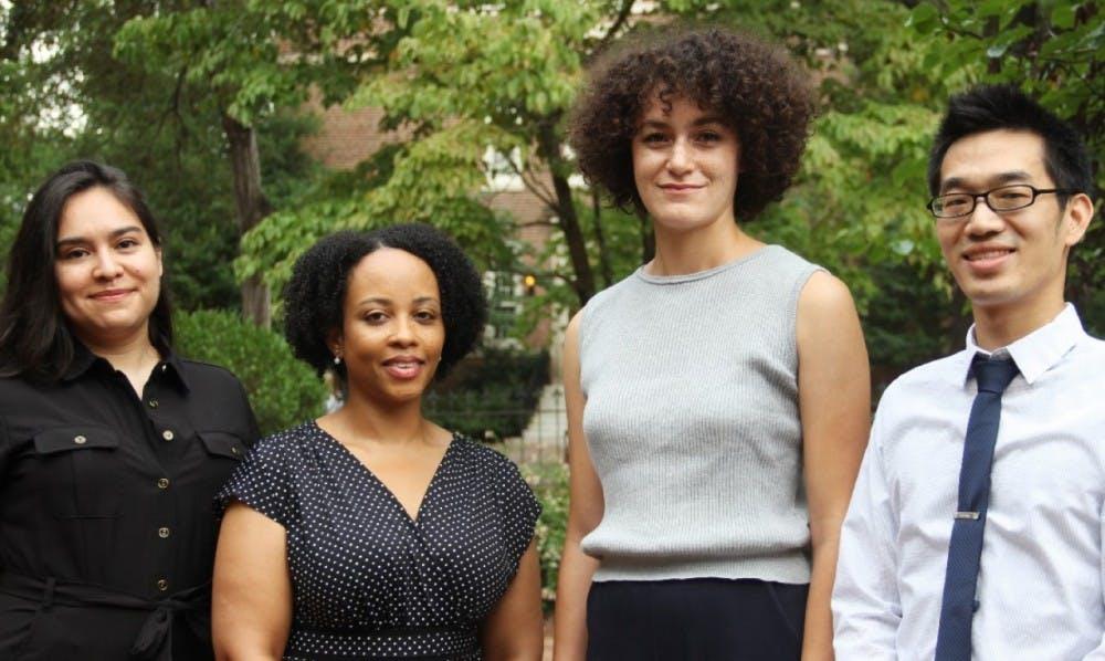 <p>From left to right: Erika Serrato, Katrina Ellis, Kathryn Desplanque and Brian Hsu. Photo courtesy of Sibby Thompkins.&nbsp;</p>