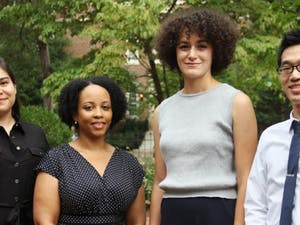 From left to right: Erika Serrato, Katrina Ellis, Kathryn Desplanque and Brian Hsu. Photo courtesy of Sibby Thompkins.