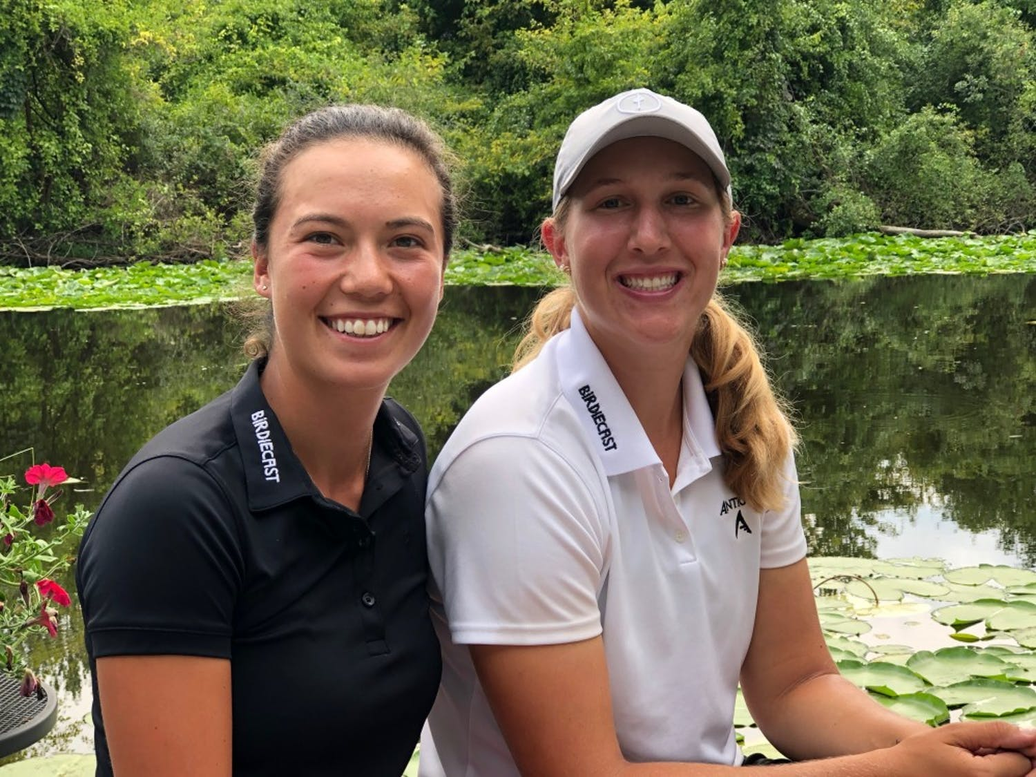 Former UNC golfers Leslie Cloots and Maia Schechter. Photo courtesy of Maia Schechter.