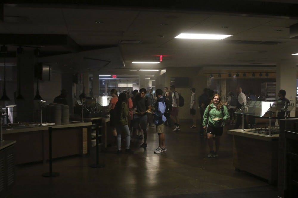 <p>Lenoir dining hall lost power today.</p>