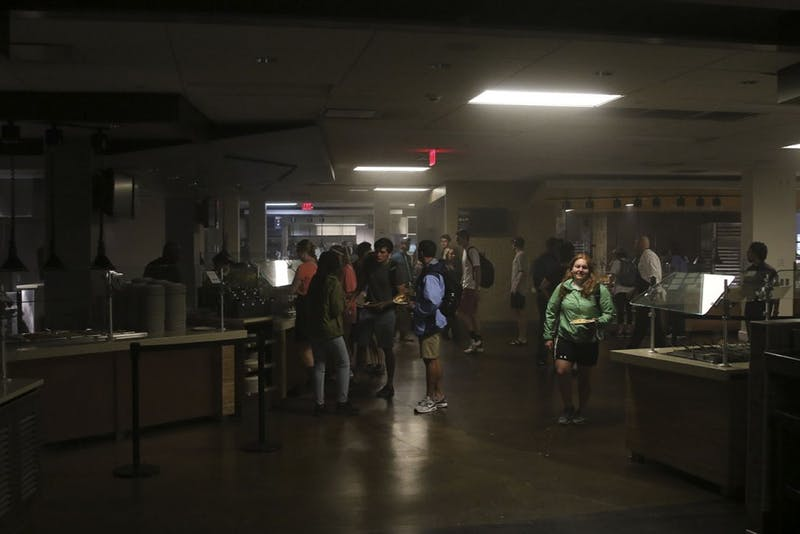 Lenoir dining hall lost power today.
