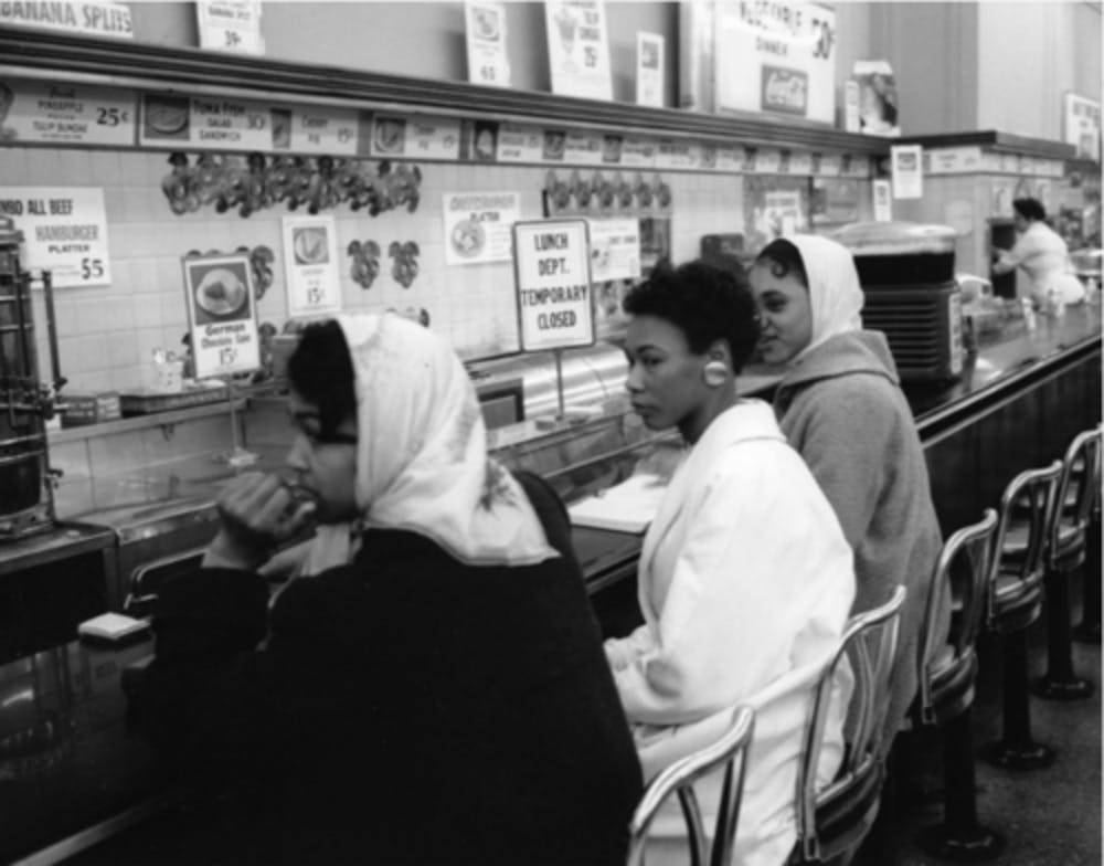 This exhibit connects past and present with photos of the 1960s civil rights movement