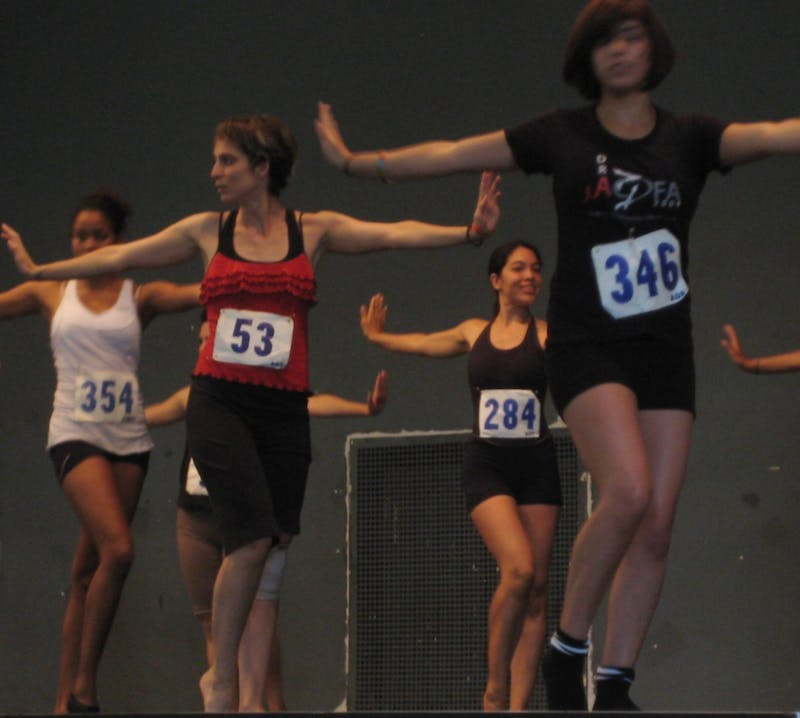 Student dancers audition for the American Dance Festival