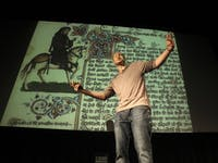 Baba Brinkman re-tells The Canterbury Tales and Beowulf through rapping.