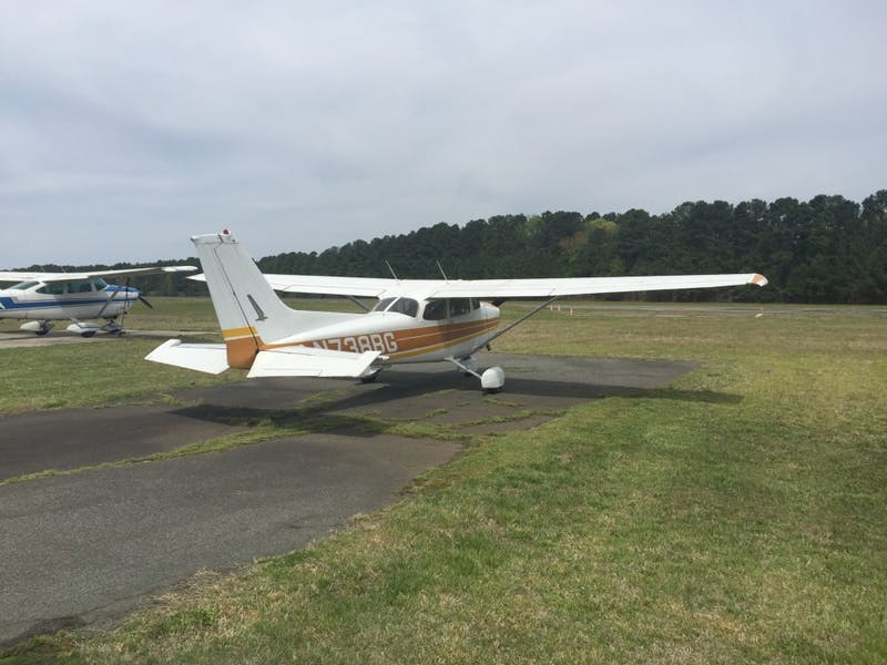 A Cessna plane at Horace Williams Airport during the what may be the last flying event the airport may hold.
