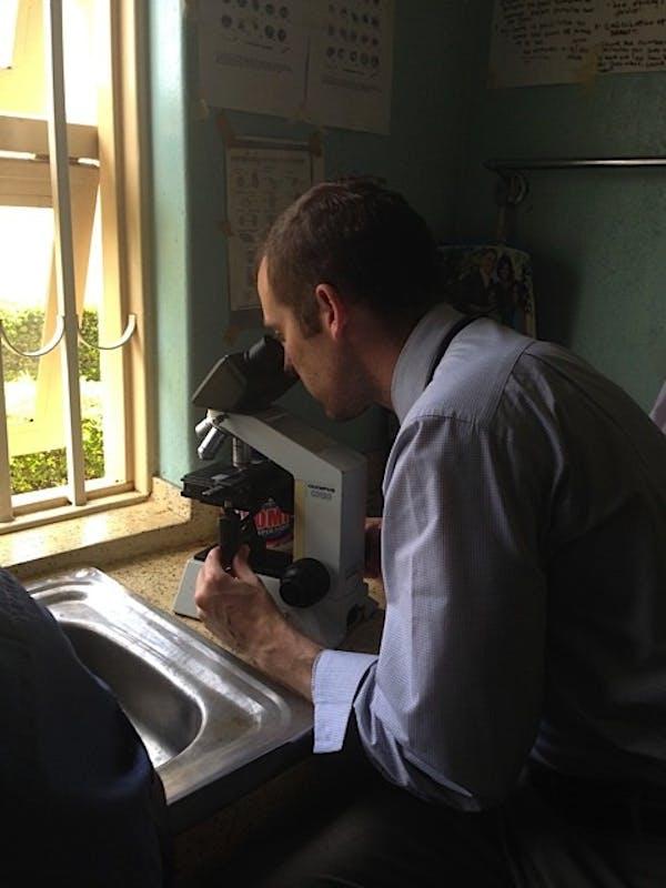 Photo courtesy of Ross Boyce, studying malaria.