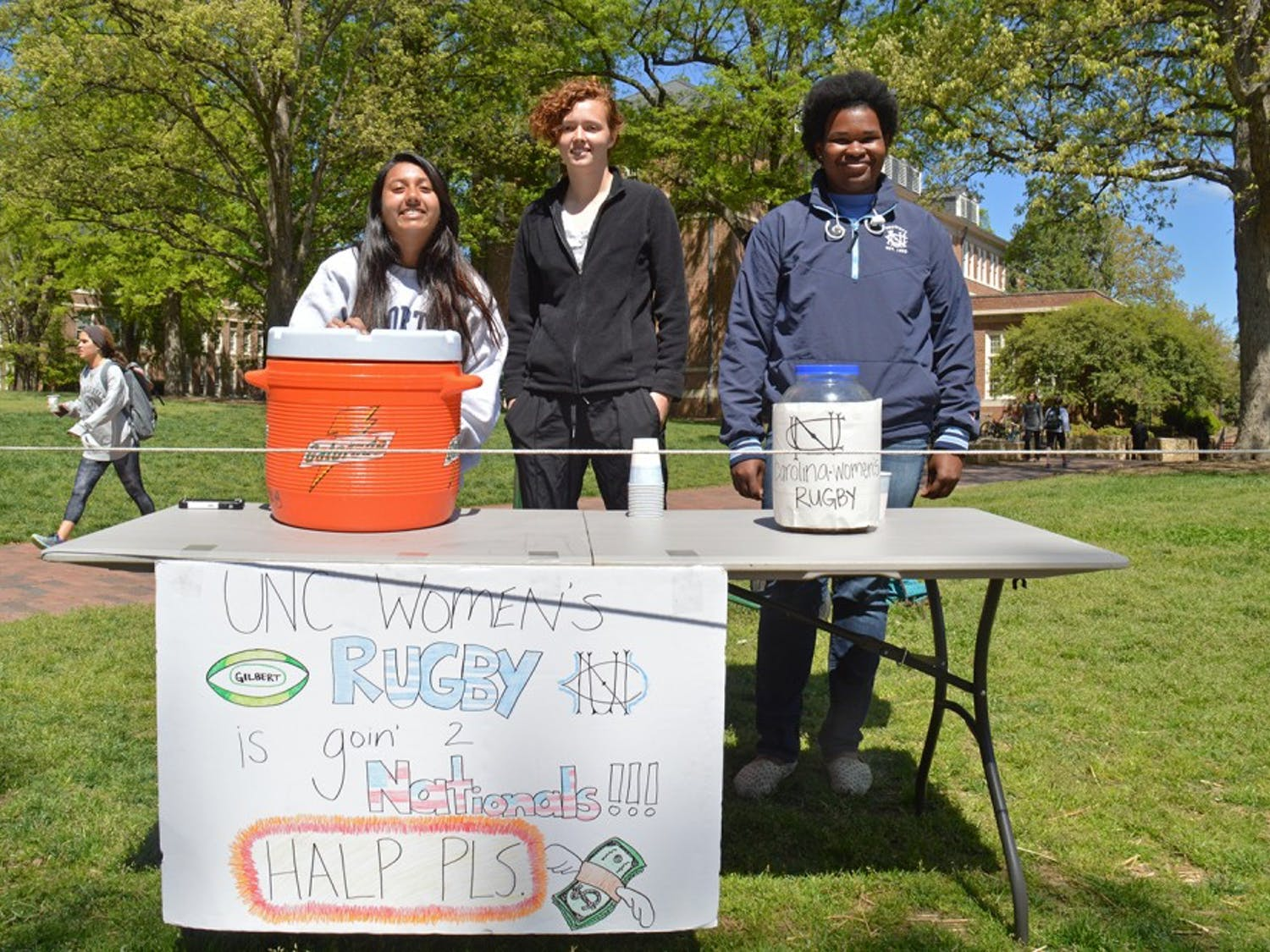 The Women's Rugby team is going to the national championship game but has to raise the money to get there. 