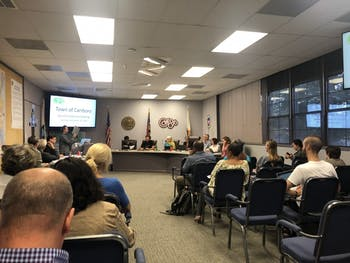 The Carrboro Board of Alderman met on Tuesday, Sept. 10, 2019.