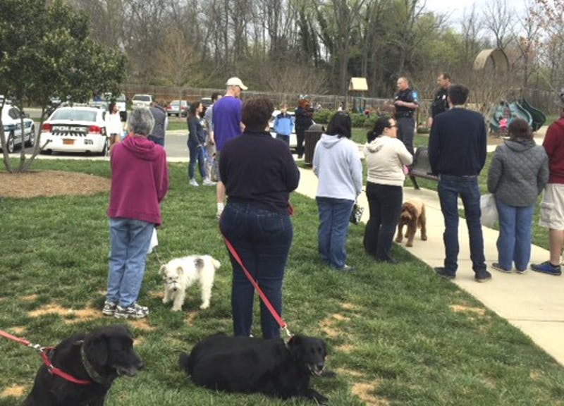 The Hillsborough Police Department hosted an egg hunt for dogs online at Gold Park Saturday.
