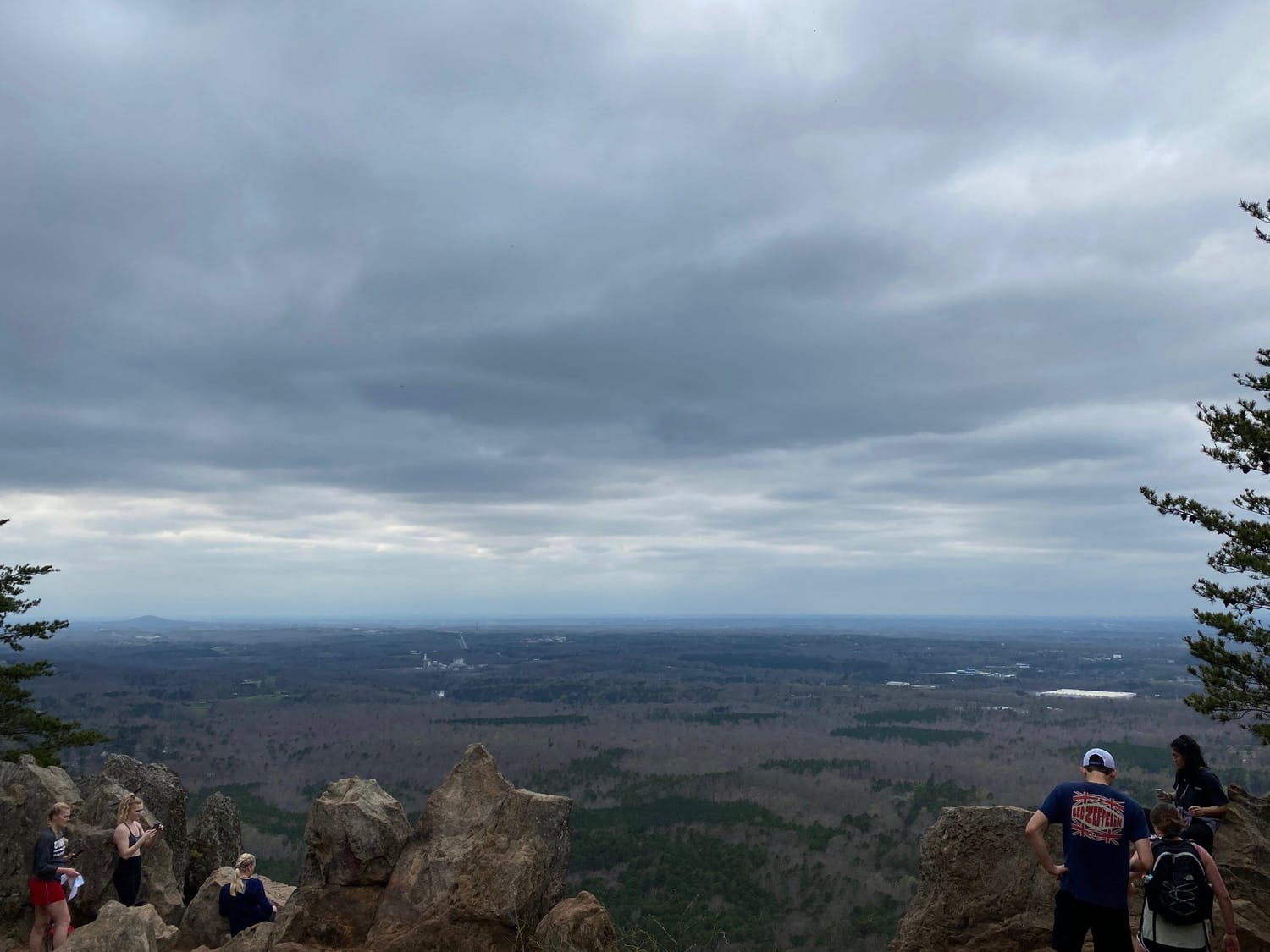 Ethan Runyan and friends hiked a trail on Crowder Mountain near Charlotte over the extended spring break.