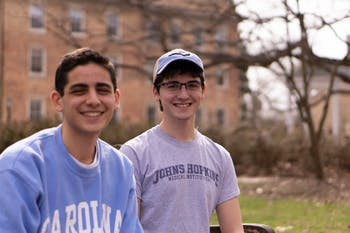 Sam Zahn(Left) and Brady Hanshaw(Right) are Roberston Scholars attending UNC-Chapel Hill this semster. Roberston Scholars are required to attend both schools during their college career at UNC-Chapel Hill and Duke.  Zahn choose Chapel Hill as his home institution over Duke for its Southern Charm.