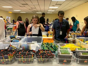 Sixth through 12th grade teachers in Chapel Hill-Carrboro City Schools were invited to this year's East Chapel Hill Rotary Teacher Supply Store on Aug. 19. Teachers were given a $75 voucher to shop for supplies for the year.