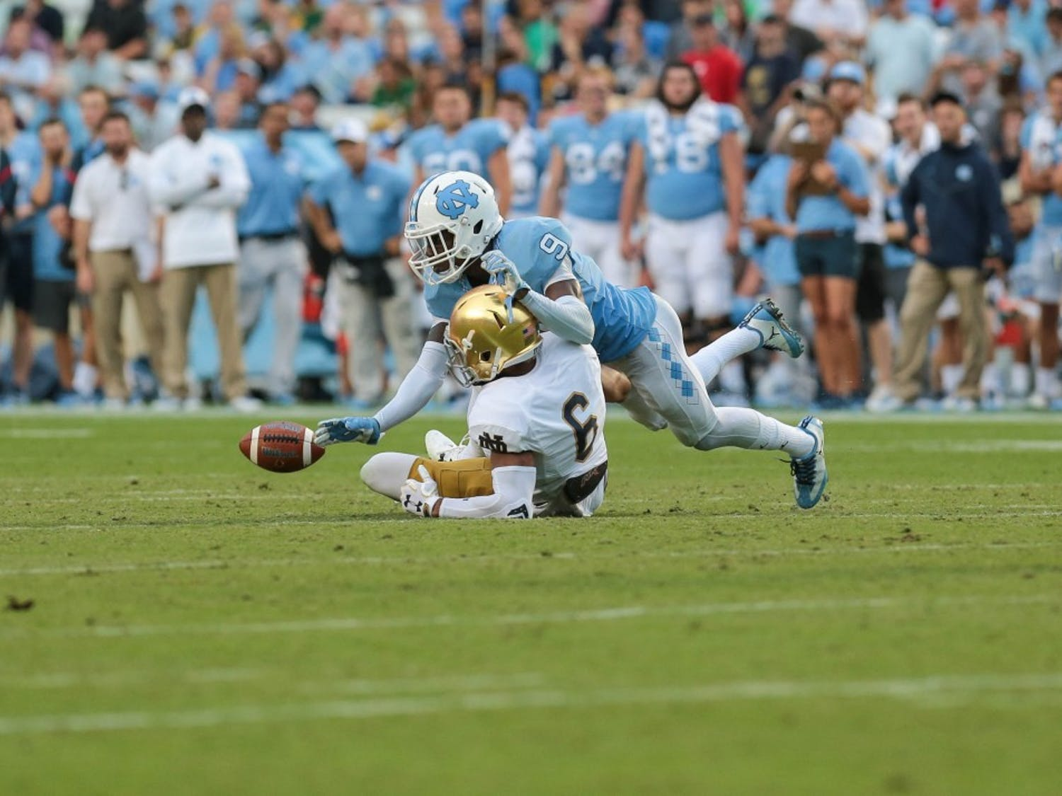 UNC football lost against Notre Dame 33-10 in Kenan Stadium on Saturday.