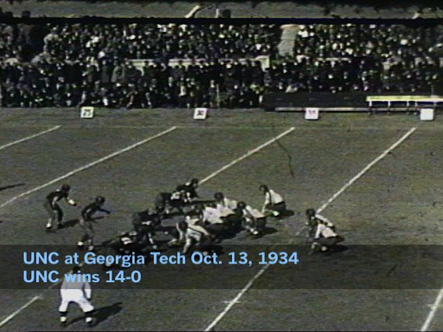 """This Saturday, Wilson Library will host a showing of """"Gridiron Glory,"""" a film highlighting UNC football games throughout the 20th century. Courtesy of Wilson Library special collections."""