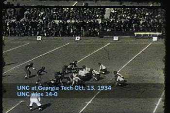 "This Saturday, Wilson Library will host a showing of ""Gridiron Glory,"" a film highlighting UNC football games throughout the 20th century. Courtesy of Wilson Library special collections."