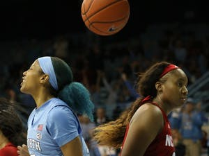 The monumental win for the women's basketball team — a 66-60 upset of No. 9 N.C. State, which entered the game 14-0 — was no one player's doing. It was about as egalitarian as a basketball game can get. And that's exactly how the Tar Heels, who moved to 12-3 on Wednesday night, wanted it to be.