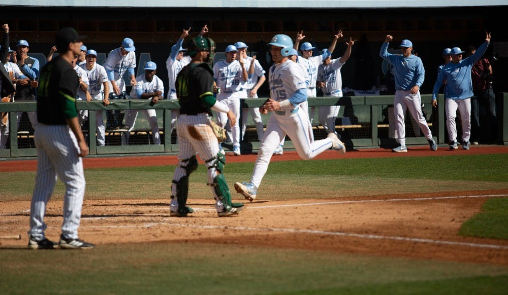 Hot bats in early innings give UNC baseball series win over Miami