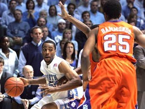 """Shooting guard Wayne Ellington has found plenty of success against Clemson in recent years"""" scoring a career-high 36 points in South Carolina last year. Ellington hopes to continue his shooting groove in tonight?s game."""