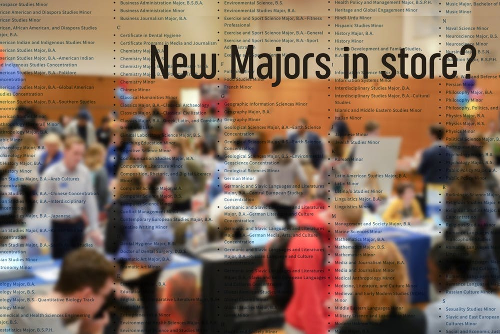 'A rather unique year': UNC to add three new majors this fall