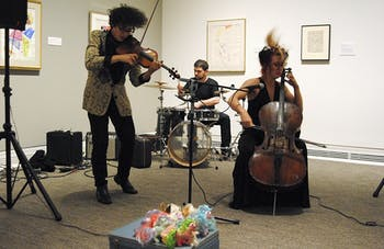 Valerie Keuhne & the Wasps Nests performed in the Ackland Art Museum Sunday afternoon as a part of the Experimental Music Study Group concert.