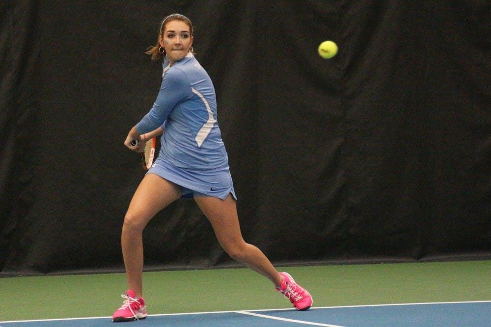 UNC women's tennis wins first dual matches of season