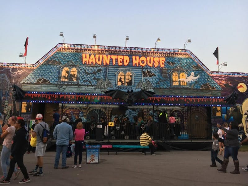 The Haunted House is one of many attractions at the NC State Fair.