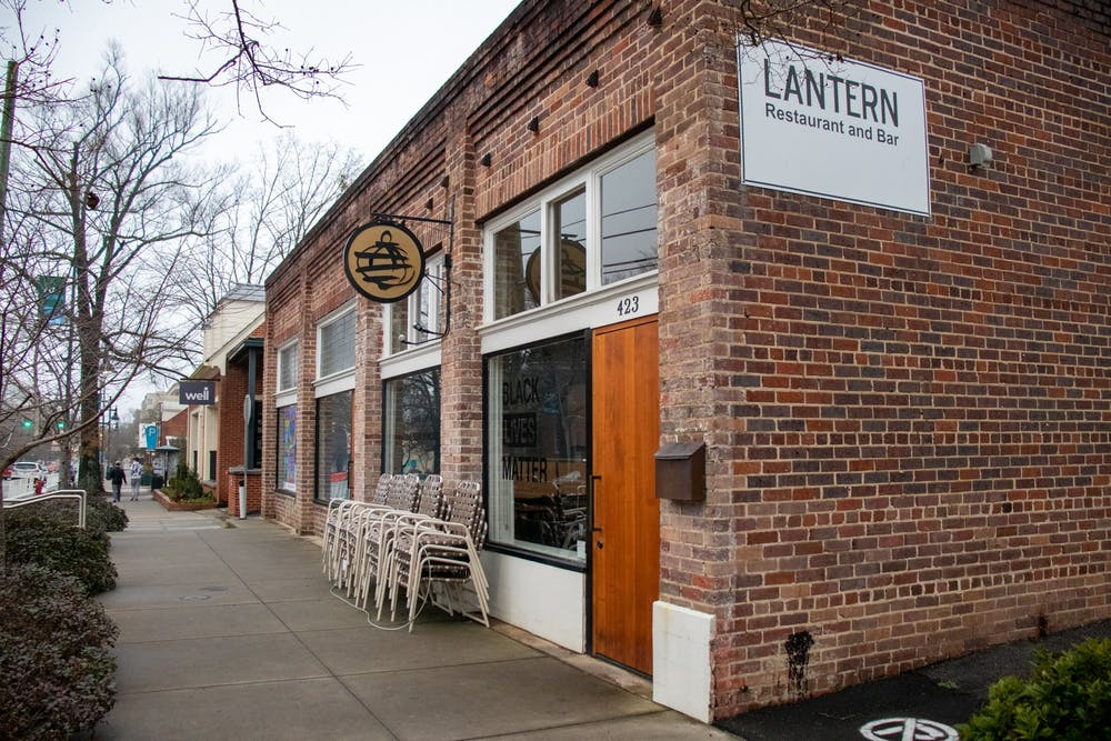 Lantern stands on Franklin Street on Jan. 26, 2021. Lantern is a Chapel Hill restaurant that is participating in triangle restaurant week.