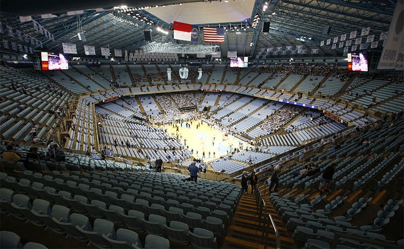 The North Carolina Tar Heels host the Duke Blue Devils at the Dean E. Smith Center on Wednesday, Feb. 8, 2012.