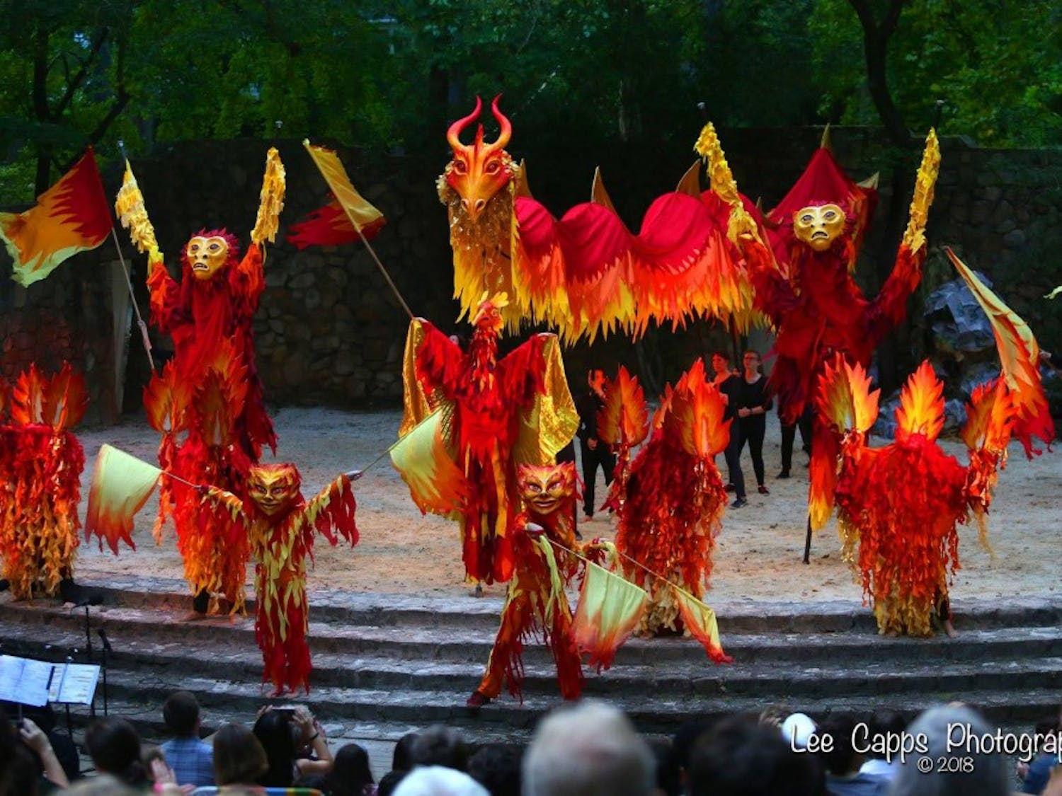 """Paperhand Puppet Intervention is performing their 19th annual puppet pageant, """"In the Heart of the Fire."""" Photo by Lee Capps Photography."""