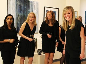Blues Night A Capella at 6:00 pm in FRANK Gallery. Three UNC A Capella groups performed blues music; Achordants, The Loreleis, and Walk-ons.