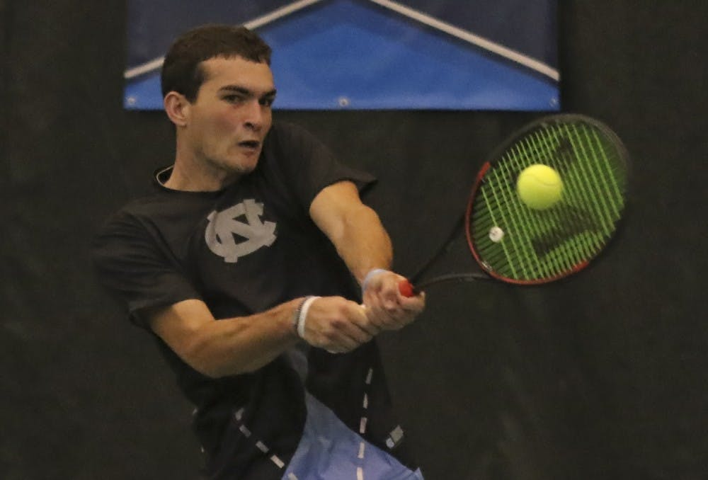 No. 9 UNC men's tennis excels despite youth in 7-0 win over UNC-Greensboro
