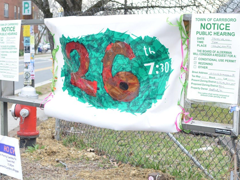 Vandalism at 201 N. Greensboro Street, the possible future home of CVS.