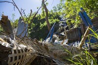 Damage from Hurricane Maria in Morovis, Puerto Rico on Nov. 4, 2017. Mainland U.S. universities are offering education assistance to Puerto Rican students displaced by the hurricane.