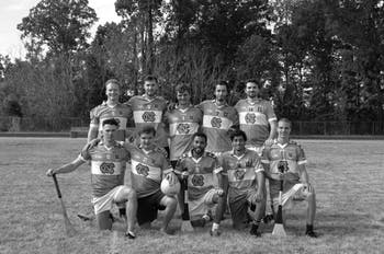 UNC Irish Sport's hurling club after a scrimmage. Contributed by Alton Gayton.