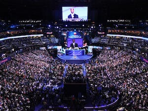 The Democratic National Convention draws thousands of delegates, press, and citizens to Charlotte in Sept. 2012.
