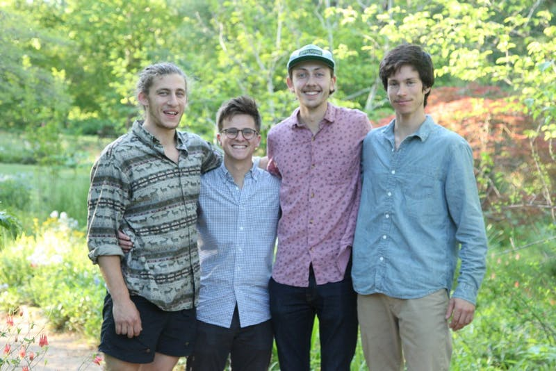 (Left to right) UNC students Eric Sugraman, Peter Joyce, Steve Wood and Charlie Garnett formed Local Flora in 2017.