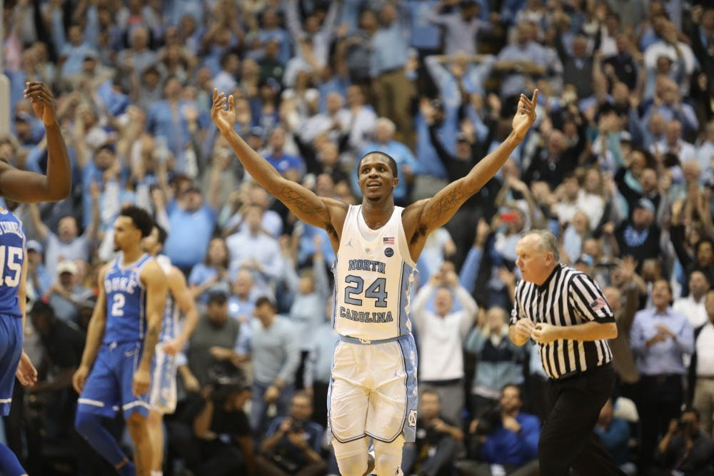 In 82-78 win over Duke, Kenny Williams and Cameron Johnson make their marks