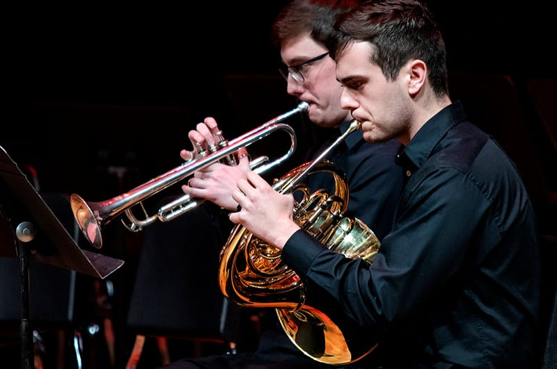 A tuba quartet and a brass quintet will both perform unconducted at their upcoming concert on Nov. 19 at 8 p.m. in the Kenan Rehearsal Hall. Photo courtesy of Johnny Andrews.
