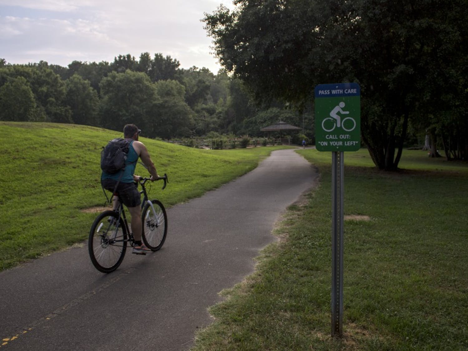 The Bolin Creek Greenway Trail is visited by pedestrians and cyclists on a daily basis.