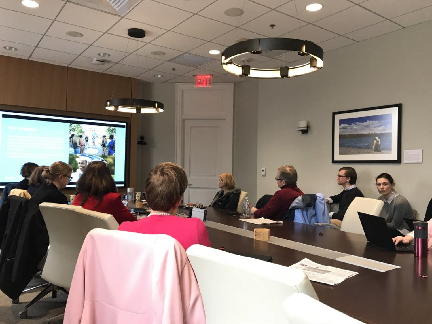 Members of the Faculty Executive Committee met on Feb. 19