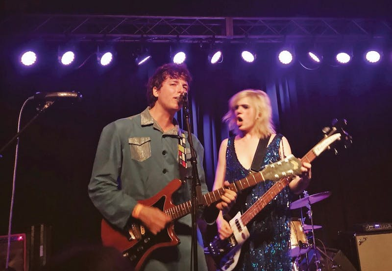 Sunflower Bean, a rock band from New York, played at Cat's Cradle on June 3.