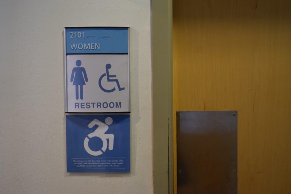 <p>The women's bathroom in the Union on campus.&nbsp;</p>