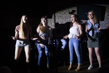 I Just Said That, previously known as We The Ladies, comedy troupe, acted in a femme and gender non-binary created comedy on Apr. 19, 2018. All proceeds went to the N.C. Diaper Bank.