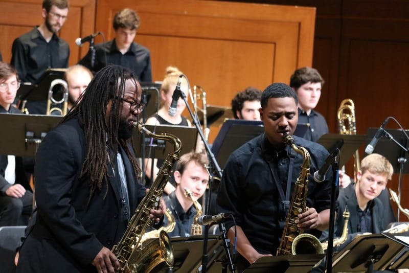 The UNC music department is hosting a Valentine's Day Jazz Concert on Feb. 10, 2019 in celebration of the holiday. Photo by Joshua Walker.