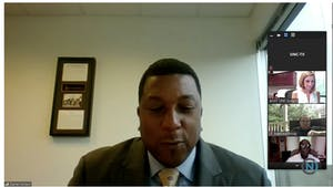 Darrell Allison speaks via Zoom livestream at the Historically Minority-Serving Institutions (HMSI) Committee Meeting on Thursday, June 6, 2020.
