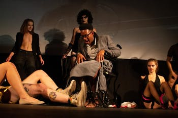 Eric Groves performing as Dr. Scott in Pauper Players' 2020 version of Rocky Horror Picture Show. Photo courtesy of Groves.
