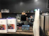 Emily Jane MacKillop works as a barista at Tama Tea.